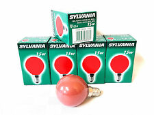 20x Sylvania Decor Color rot 15W E14 Glühlampe Lampe Glühbirne Birne 15 Watt Red