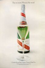 1971 Cordon Rouge Brut French Vintage Mumm's Extra Dry Champagne PRINT AD