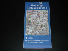 Fahrradkarte Tourenkarte Radwanderungen Deutschland Nord: Hamburg Elbe