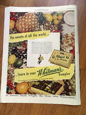 1949 Whitman's Sampler Candy Ad  The Sweets of all the World