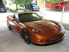 Chevrolet Corvette ZR1 Front Splitter For Base C6 Gloss Black Fiberglass Finish