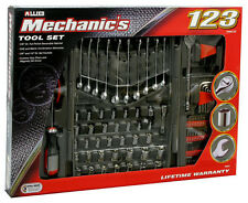 123pc Mechanic Mixed Tool Set, Wrenches, Sockets, Ratchet, Drivers 1/4, 3/8 Dr.