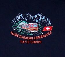 KLEINE SCHEIDEGG JUNGFRAUJOCH / TOP OF EUROPE / SWITZERLAND / BLACK T-SHIRT L