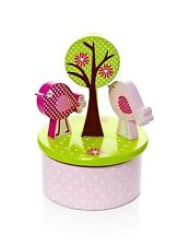 Baby Kids Adult Girls Wooden Music Box Pink Bird Theme Love Story Music