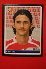 PANINI CHAMPIONS LEAGUE 2006/07 # 220 BENFICA MIGUELITO BLACK BACK MINT!