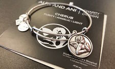 ALEX AND ANI RUSSIAN SILVER CHERUB BANGLE BRACELET NEW WITH BOX