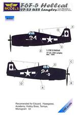 LF Models 1/48 GRUMMAN F6F-5 HELLCAT U.S.S. LANGLEY VF-23 Paint Mask Set