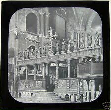 Glass Magic Lantern Slide THE ROOD SCREEN ST MARKS VENICE   C1900 ITALY