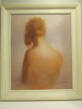 """""""Nude"""" Vintage painting,oil on canvas signed by artist M. KING"""