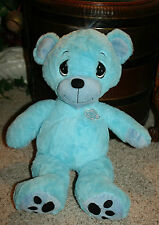 "Big Precious Moments Plush Blue Bear Nanco Large Stuffed Toy 2009 20""  F1"