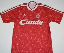 1989-1991 LIVERPOOL ADIDAS HOME FOOTBALL SHIRT (SIZE M)