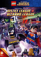 LEGO DC Comics Super Heroes: Justice League vs. Bizarro League (DVD, 2015) NEW