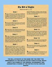 BILL OF RIGHTS, FIRST 10 AMENDMENTS TO THE CONSTITUTION