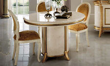 Luxus Esszimmer Set Melodia Beige- Gold Dekor Design Stilmöbel aus Italien Top