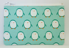 Cute Penguins Fabric Handmade Zippy Coin/Card Purse Storage Pouch