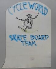 Cycle World Skate Board Team.  Original T Shirt art by Stanley Mouse
