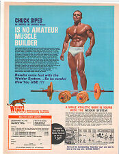 Bodybuilding Advertisement Joe Weider Wildcats Chuck Sipes Barbell Dumbell Sets