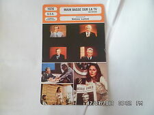 CARTE FICHE CINEMA 1976 MAIN BASSE SUR LA TV Faye Dunaway William Holden Finch
