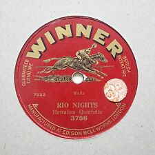 "HAWAIIAN QUARTETTE ""Rio Nights / Hawaiian Rainbow"" EDISON WINNER 3756 [78]"