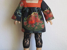 MIDNIGHT IN THE PUMPKIN FIELD Tunic Top Blouse fits American Girl -