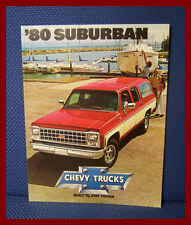 1980 Chevrolet SUBURBAN Color Sales Brochure - Original New Old Stock