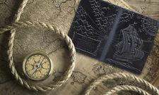 """Premium leather passport cover case """" Captain Columbus's Sailboat 3D Print"""" #3"""