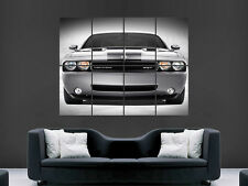 DODGE CHALLENGER SRT SILVER MUSCLECAR  IMAGE HUGE  LARGE PICTURE POSTER GIANT