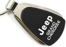 Jeep Grand Cherokee Black Teardrop Authentic Logo Key Ring Fob Keychain Lanyard