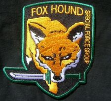 METAL GEAR SOLID FOXHOUND FOX SPECIAL FORCES EMBROIDERED COSPLAY PATCH VELCRO 4""