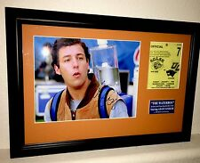 Waterboy Screen Used Prop Bourbon Bowl Pass Adam Sandler Signed Autograph Framed