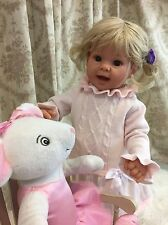 "Lee Middleton Custom Full Vinyl Straight Leg Toddler Doll ""Blonde Smiles"""