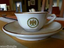 RARE Antique FRENCH MILITARY CUP & SAUCER FRANCE WWII La S'UZIENNE S'UZE DROME