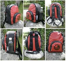 100% waterproof 20L dry bag rucksack. Padded back straps. Made with seamless PVC