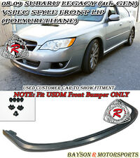 V-Limited Style Front Lip (Urethane) Fits 08-09 Legacy 4/5dr [US-Spec Only]