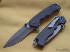 COLT LINERLOCK BLACK FINISH G10 HANDLE FOLDING KNIFE WITH POCKET CLIP