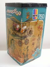 Mordillo FLIGHT TO ATLANTIS puzzle 750 pcs 1990 Heye, complete triangle box 8591