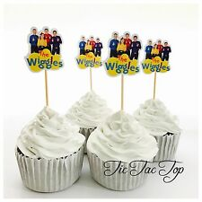 12x The Wiggles Cupcake Topper Fruit Jelly Cup Toppers *HANDMADE* Party Supplies