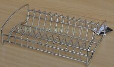 13 Plates Chrome Plated Dish Drainer Rack Sink Stand Holder