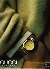 Publicité advertising 1991 Bijou Montre Gucci