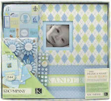"K&Company Post Bound Scrapbook Kit Boxed 12""X12""-Little House Baby Boy K243460"