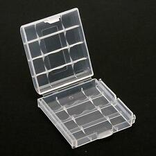 5X Hard Clear Battery Box Storage Case Holder For 4 AA AAA Rechargeable BatterY