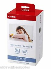 "Canon KP-108in 4 X 6"" Ink and Paper Set for SELPHY CP KP 108 VAT INCLUDED"