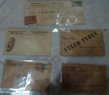 5 Vintage Postal Covers Of Tyres Co. Advertisements From India 1930'S Rare .
