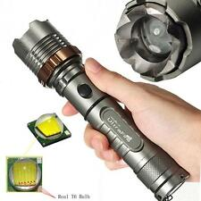 Tactical 3000Lm Zoomable CREE XML T6 18650 Flashlight Focus Torch Taschenlampen