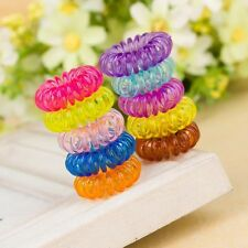 100pcSmall Colourful Slinky Elastic Rubber Tie Wire Coil Hair Bands Ponybands UK