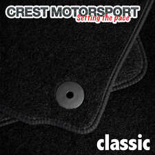 VW PASSAT (B6) 05-07 (Saloon) (Oval Clips) CLASSIC Tailored Black Car Floor Mats