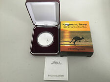 2009 $1 Kangaroo At Sunset 1oz Silver Proof Coin NUMBERED: 866