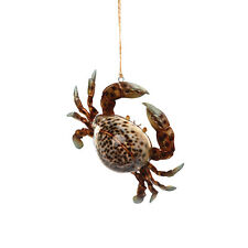 ORN71857 Crab Cowry Shell Nautical Holiday  Christmas Ornament Holiday