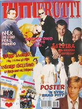 TUTTI FRUTTI 197 1999 Nek Sottotono Litfiba 'N Sync Ruggeri Seal Meja Tamperer