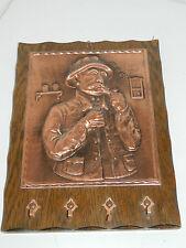 vintage TABLEAU PORTE CLE en CUIVRE kupfer ART Copper Key Rack Holder ring PIPE